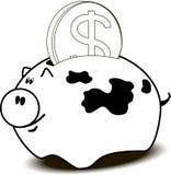 Moneybox Arkivfoto