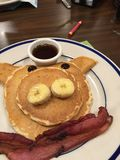 Piggy pancakes royalty free stock images