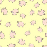 Piggy pattern. Seamless pattern of cute pigs Royalty Free Stock Image
