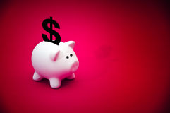 Piggy pengargrupp Arkivfoton