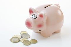 piggy pink för grupppengar Royaltyfri Fotografi