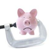 Piggy Pressung Stockfoto