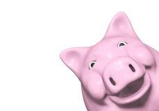 Piggy Querneigung überwacht von einer Ecke vektor abbildung