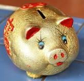 Piggy Querneigung. Stockfoto