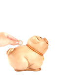 Piggy-Querneigung Lizenzfreie Stockfotos