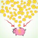 Piggy Querneigung Lizenzfreies Stockbild