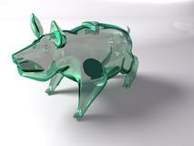 Piggy Querneigung 3d des Schweins Lizenzfreie Stockbilder