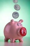 Piggy Querneigung lizenzfreie stockfotografie