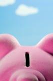Piggy Querneigung stockfotografie