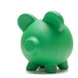 Piggy Querneigung auf Weiß lizenzfreies stockbild