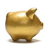 Piggy Querneigung auf Weiß Stockfotografie
