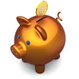 Piggy Querneigung delux. Sparungskonzept (Mieten) Lizenzfreie Stockbilder