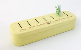 Piggy Querneigung der holländischen Fünfzigerjahre für kluge Haushaltung Lizenzfreies Stockfoto