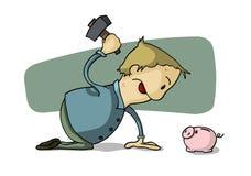 Piggy Querneigung des Bruches stock abbildung