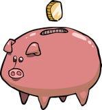 Piggy Querneigung des Schweins Stockfotos