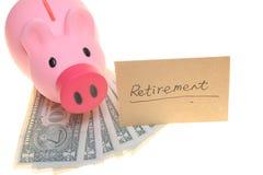 Piggy Querneigung für Ruhestand Stockbild