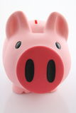 Piggy Querneigung/Geldkasten Lizenzfreies Stockbild