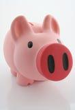 Piggy Querneigung/Geldkasten Lizenzfreie Stockfotos
