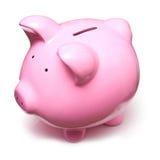 Piggy Querneigung getrennt Lizenzfreie Stockfotografie