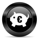 Piggy Querneigung-Ikone Lizenzfreies Stockbild