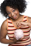Piggy Querneigung-Mädchen stockfotos