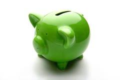 Piggy Querneigung oder Geldkasten Stockbild