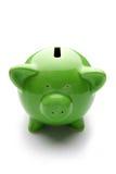 Piggy Querneigung oder Geldkasten Lizenzfreie Stockfotografie