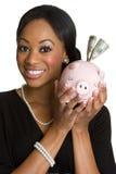 Piggy Querneigung-Person Stockbild