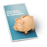 Piggy Querneigung-Ruhestand Lizenzfreies Stockfoto