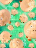 Piggy Querneigungen in der Krise Lizenzfreies Stockbild