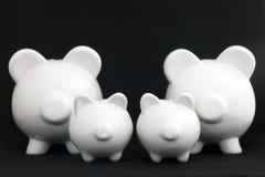 Piggy Querneigungen, viele Stockfoto