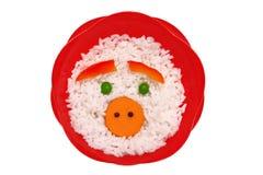piggy rice royaltyfri fotografi