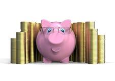 piggy rich för grupp Royaltyfria Bilder