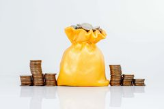 piggy sättande sparande för grupppengar Arkivbild
