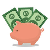 Piggy savings isolated icon. Illustration design Royalty Free Stock Images