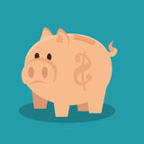 Piggy savings isolated icon. Illustration design Royalty Free Stock Photo
