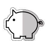 Piggy savings isolated icon. Vector illustration design Royalty Free Stock Photo