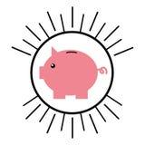 Piggy savings isolated icon. Vector illustration design Stock Photos