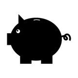 Piggy savings isolated icon. Vector illustration design Royalty Free Stock Images