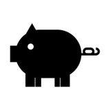Piggy savings isolated icon. Vector illustration design Stock Photo