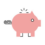 Piggy savings isolated icon. Vector illustration design Royalty Free Stock Photography