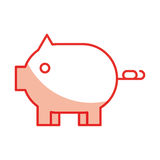 Piggy savings isolated icon. Vector illustration design Stock Image