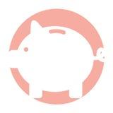 Piggy savings isolated icon Royalty Free Stock Photo