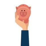 Piggy savings money icon. Illustration design Stock Images