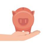 Piggy savings money icon. Illustration design Royalty Free Stock Image