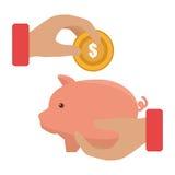 Piggy savings money icon. Illustration design Royalty Free Stock Images