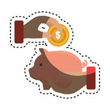 Piggy savings money icon. Illustration design Stock Image