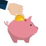 Piggy savings money icon. Illustration design Stock Photo