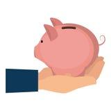 Piggy savings money icon. Illustration design Royalty Free Stock Photos