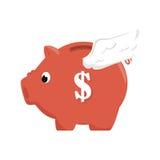 Piggy savings money icon. Vector illustration design Royalty Free Stock Photos